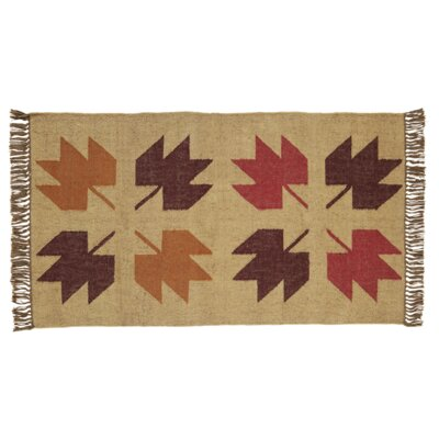 Pryor Creek Hand Woven Red/Tan Area Rug Rug Size: 3 x 5