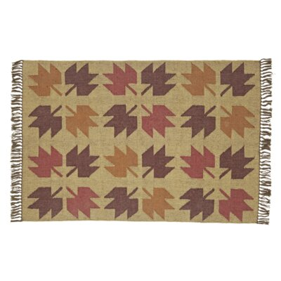Pryor Creek Hand Woven Red/Tan Area Rug Rug Size: 4 x 6