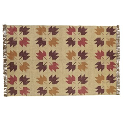 Pryor Creek Hand Woven Red/Tan Area Rug Rug Size: 6 x 9
