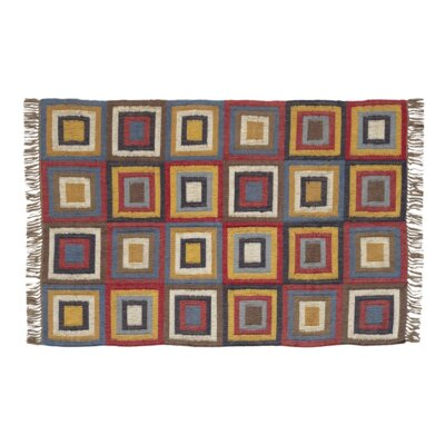 Marlin Hand woven Red/Yellow Area Rug Rug Size: 4 x 6