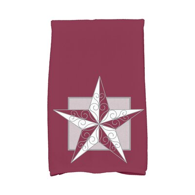 Meigs Night Star Hand Towel Color: Red