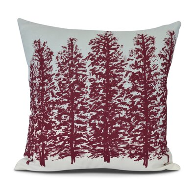 Joulon Hidden Forest Outdoor Throw Pillow Size: 18 H x 18 W, Color: Red