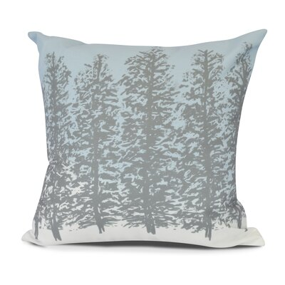Meigs Hidden Forest Outdoor Throw Pillow Size: 16 H x 16 W, Color: Gray