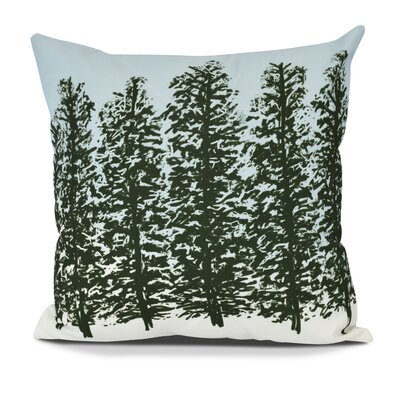 Meigs Hidden Forest Outdoor Throw Pillow Size: 20 H x 20 W, Color: Green