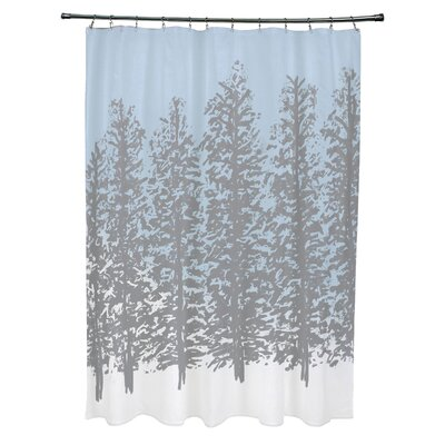 Joulon Hidden Forrest Shower Curtain Color: Gray