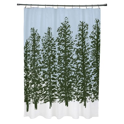 Meigs Hidden Forrest Shower Curtain Color: Green