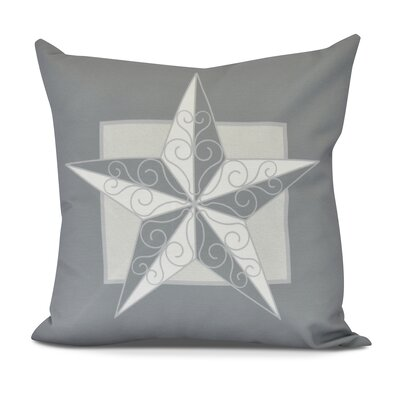 Meigs Night Star Outdoor Throw Pillow Size: 18 H x 18 W, Color: Gray