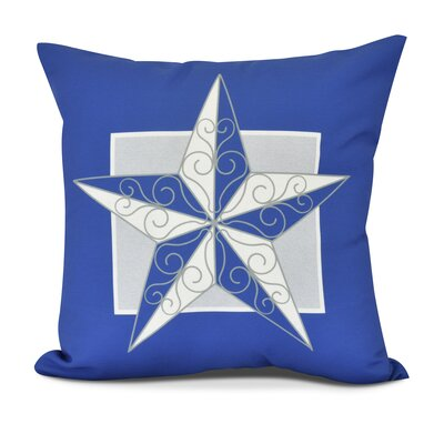 Joulon Night Star Outdoor Throw Pillow Color: Royal Blue, Size: 18 H x 18 W