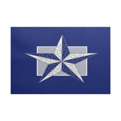 Joulon Night Star Royal Blue/Gray Indoor/Outdoor Area Rug Rug Size: 5 x 7