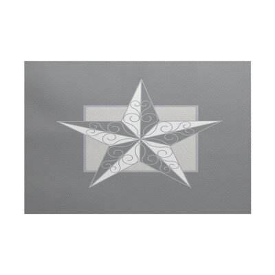 Joulon Night Star Gray Indoor/Outdoor Area Rug Rug Size: 3 x 5