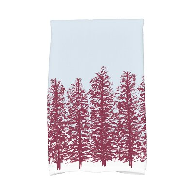 Meigs Hidden Forest Hand Towel Color: Red