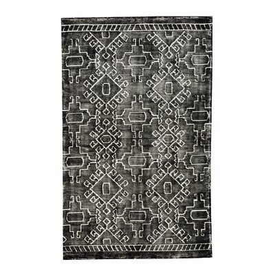 Meggie Hand-Tufted Black/White Area Rug Rug Size: 5 x 8
