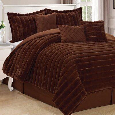 Cirque 7 Piece Comforter Set Color: Carafe, Size: King