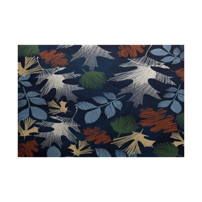 Brookfield Navy Blue Indoor/Outdoor Area Rug Rug Size: 4 x 6