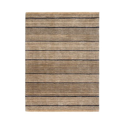 Bayside Rug Hand-Woven Gray/Tan Area Rug Rug Size: 5 x 8