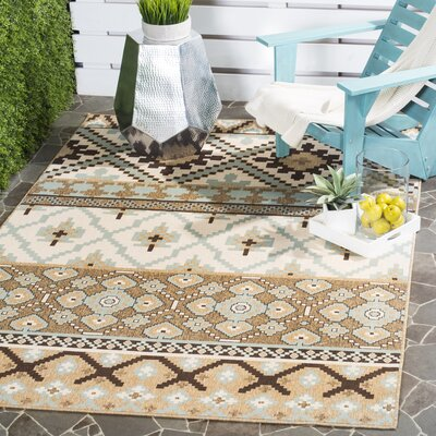 Rangely Brown/Beige Indoor/Outdoor Area Rug Rug Size: Rectangle 4 x 57