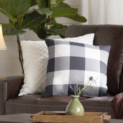 Marianmade Indoor/Outdoor Throw Pillow Color: Black / Neutral, Size: 20 H x 20 W x 4 D