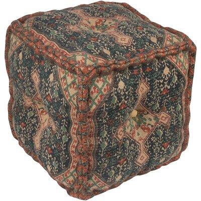 Emmaus Pouf Ottoman Upholstery: Neutral/Dark Blue