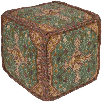 Emmaus Pouf Upholstery: Neutral/Light Blue