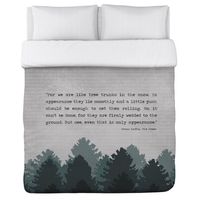 Champigny Trees Duvet Cover Size: Full/Queen