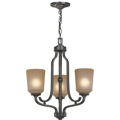 Bensen 3-Light Shaded Chandelier