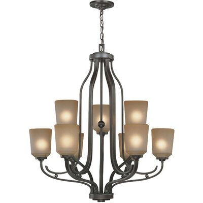 Bensen 9-Light Shaded Chandelier