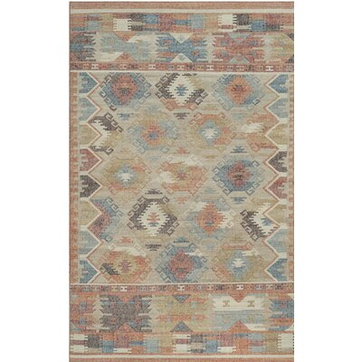 Elan Hand-Woven Red/Blue Area Rug Rug Size: 5 x 8