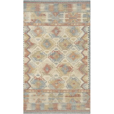 Elan Hand-Woven Ivory/Gray Area Rug Rug Size: 4 x 6