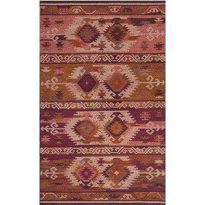 Elan Hand-Woven Pink/Red Area Rug Rug Size: 6' x 9'
