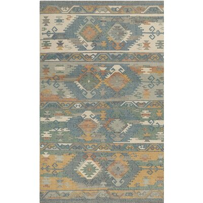 Elan Hand-Woven Blue Area Rug Rug Size: 8 x 10