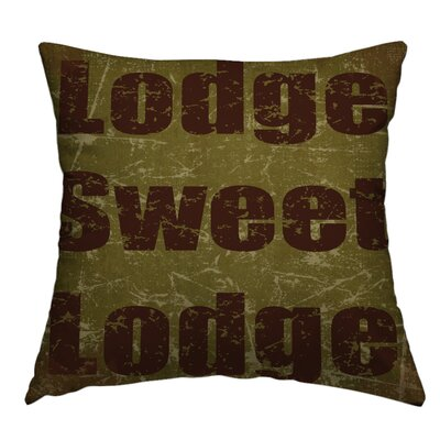 Neptune Lodge Sweet Lodge Throw Pillow Size: 14 H x 14 W x 4 D