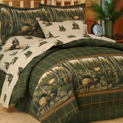 Thurman Rocky Mountain Elk Bed-In-a-Bag Set Size: King