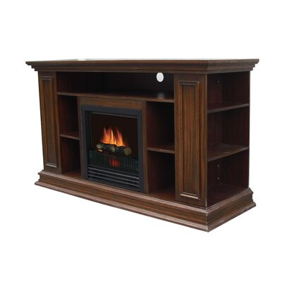 Maidstone 50 TV Stand with Fireplace Color: Old Oak