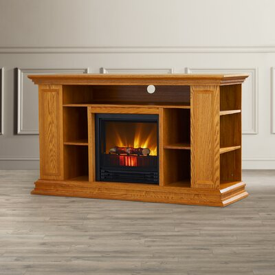 Maidstone 50 TV Stand with Electric Fireplace Finish: Light Oak