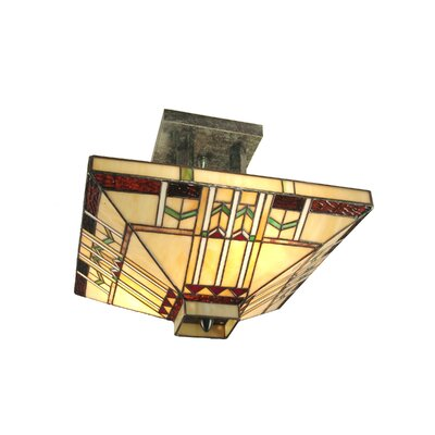 Mouron 2-Light Semi-Flush Mount