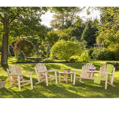 Smethwick Cedar 4 Piece Adirondack Seating Group