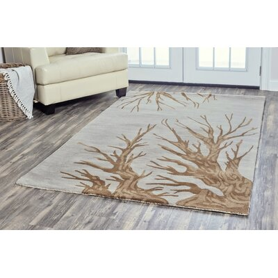 Conesville Hand-Tufted Light Gray Area Rug Rug Size: 5 x 8