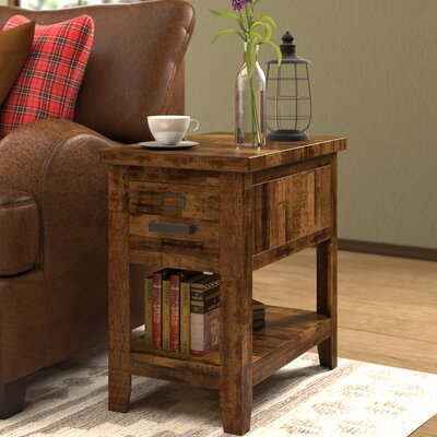 Archstone End Table With Storage