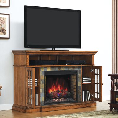 Leyden TV Stand with Fireplace