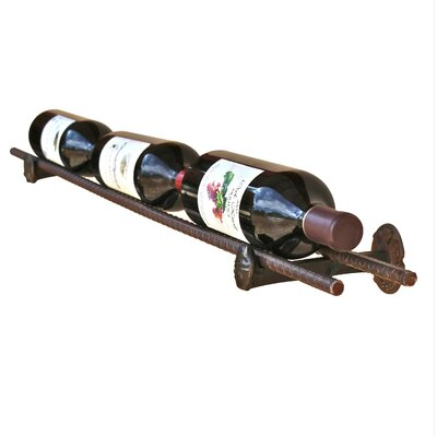 Horsetail Railroad Spike 3 Bottle Tabletop Wine Rack