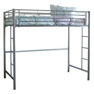 Belfort Charmaine Metal Twin Loft Bed Finish: Silver