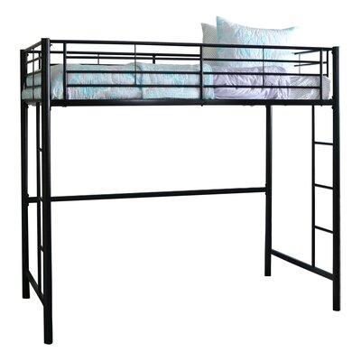 Belfort Charmaine Metal Twin Loft Bed Finish: Black