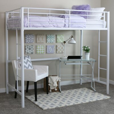 Belfort Metal Twin Loft Bed Finish: White