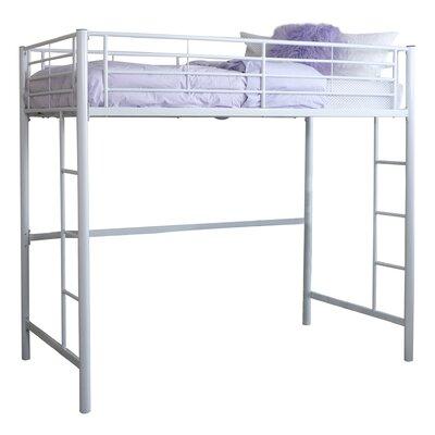 Belfort Charmaine Metal Twin Loft Bed Color: White