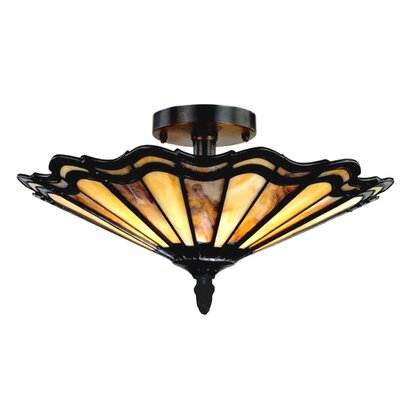 Tyrone 2-Light Semi Flush Mount
