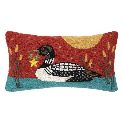 Castlewood Loon Hook Wool Throw Pillow