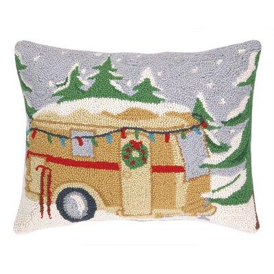 Castlewood Camper Hook Wool Throw Pillow