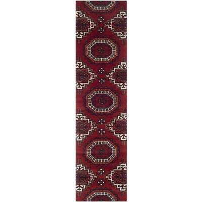 Keegan Red Area Rug Rug Size: 26 x 4