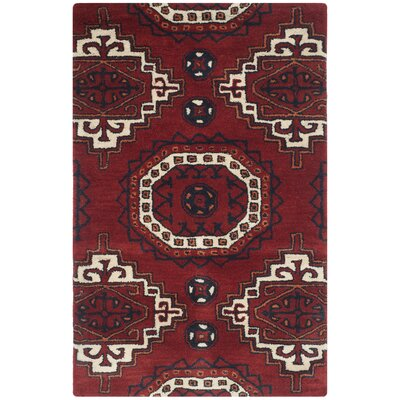 Keegan Red Area Rug Rug Size: Rectangle 26 x 4