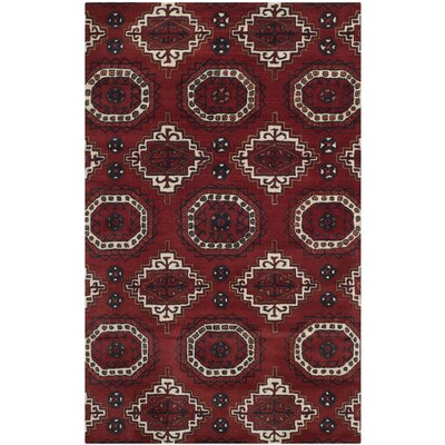 Keegan Red Area Rug Rug Size: Rectangle 5 x 8
